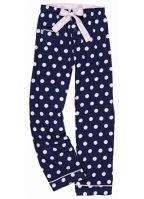 Navy blauwe polka dot loungebroek