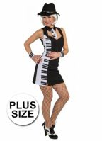 Piano outfit voor dames grote maat